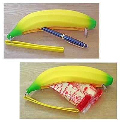 とっても柔らか バナナ シリコン ペンケース おやつ入れ ポーチ ばなな BANANA シリコーン ベビー用品 ベビーカ― ポーチ 御箸入れ 入学試験 お祝い せんべい入れ フルーツ ギフト (バナナ)
