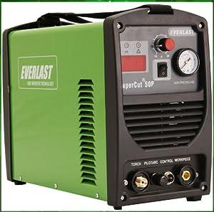 Everlast SuperCut 50P PILOT ARC 110v/220v Inverter plasma cutter 50AMP Cutting System from Everlast Power Equipment