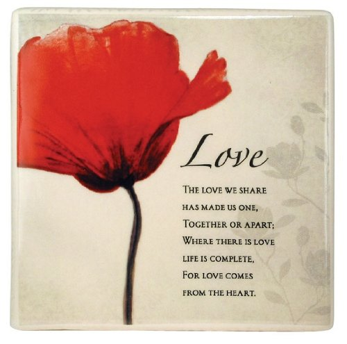 Love Decorative Inspirational Floral Ceramic Tile 5