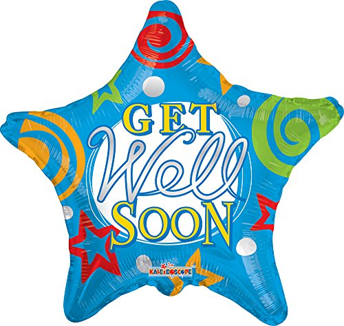 "Conver USA 19519-18SP Get Well Stars Packed Balloon, 18"" - 1"