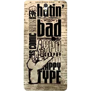 Casotec Gesture Design Hard Back Case Cover for Sony Xperia C5 Ultra Dual
