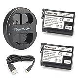 Newmowa EN-EL15 互換バッテリー 2個 + 充電器 セットNikon EN-EL15 and Nikon 1 V1, D600, D610, D800, D800E, D810, D7000, D7100,D7200