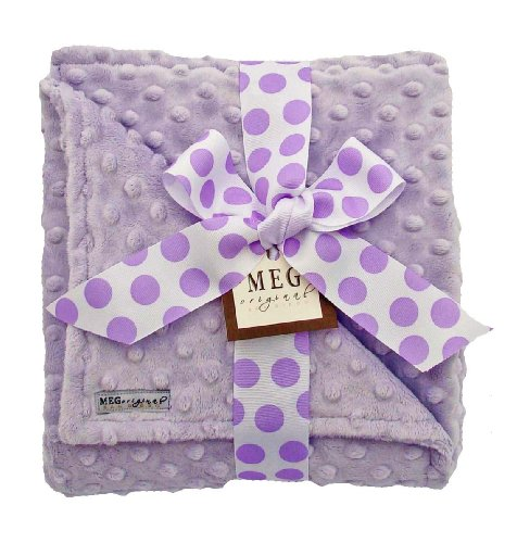 Minky Dot Baby Blankets front-9520