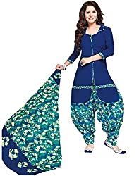 Taos Brand cotton dress materials for women womens dress materials cotton salwar suit New Arrival latest 2016 womens party wear Unstitched dress materials for women (505 summer__blue and multicolored_freesize