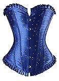 Plus Size Satin Overbust Trim Costumes Diamond Corset Burlesque Top