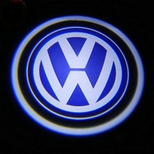 2 X 5Th Gen Led Car Door Ghost Shadow Laser Projector Logo Light For Volkswagen Vw Golf Polo Passat Beetle Jetta Cc Scirocco Tiguan Touran Touareg Eos Phaeton Gti..