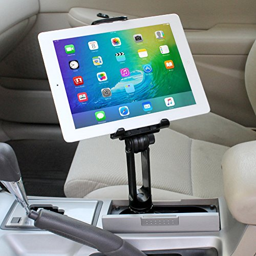 iKross 2-in-1 Tablet & Cellphone Adjustable Swing Long Arm Cup Mount Holder Car Kit for Apple iPhone iPad, Samsung, LG, HTC, Motorola, Nokia and more Cellphone Smartphone Tablet