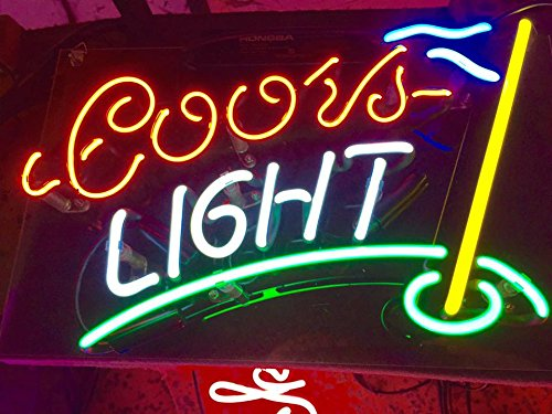 Coors Light Golf Home Wall Room Lamp LED Bulb Beer Bar Club Poster Party College Fun NEON Light Sign 11