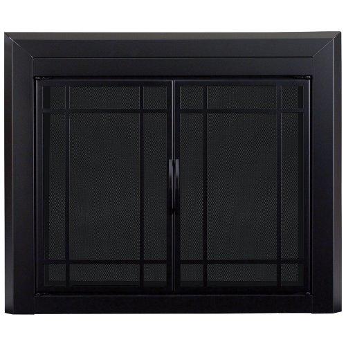 Pleasant Hearth EA-5011 Easton Fireplace Glass Door, Midnight Black, Medium