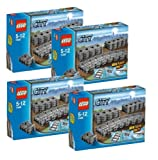 LEGO City 4 x 7499 Flexible Tracks