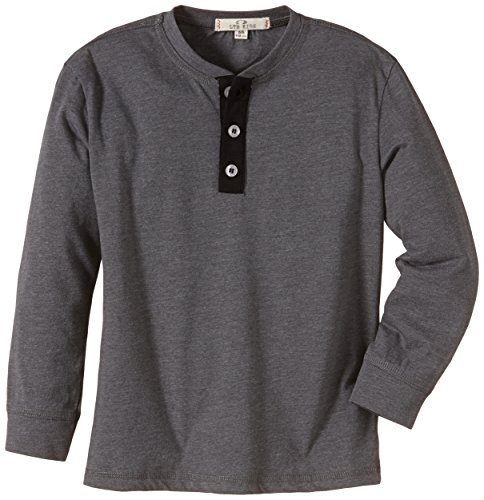 LTB Jeans Jungen Langarmshirt Macsan S/T, Gr. 176, Grau (Dark Grey Mel 218)