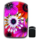 Bunch of Large Multi Colored Flowers Orange Purple For Amazon Kindle Fire & Kindle 3G Keyboard Soft Protection Neoprene Case Cover Sleeve Bag With Pocket which is Ideal for Headphones, Data Cable etc