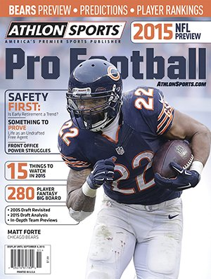 Athlon Sports 2015 NFL Pro Football Magazine Preview- Chicago Bears Cover