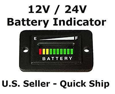 Automotive Authority LLC® 12V 12 Volt Marine Trolling Motor Battery Indicator Charge Status Power Meter