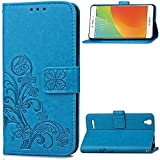 Oppo A53 Hülle, Oppo A53 Case,Cozy Hut Lucky Clover Muster