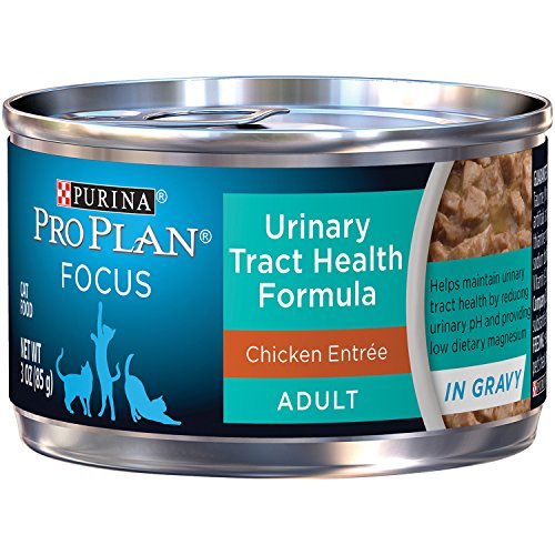 Purina Pro Plan Wet Cat Food, Focus, Adult Urinary Tract Health Formula Chicken Entrée, 3-Ounce Can, Pack of 24 (Purina Pro Wet Cat Food compare prices)