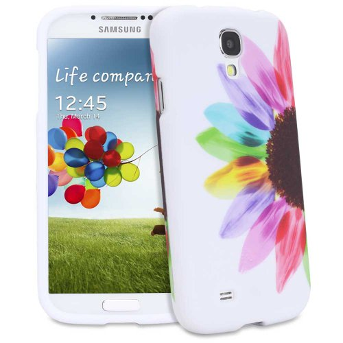 #>>  Fosmon MATT Series Rubberized Case for Samsung Galaxy S4 IV - i9500 (Colorful Sunflower)