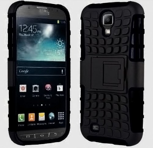 Galaxy S4 Case, Samsung Galaxy s4 Armor cases [HEAVY DUTY] Tough Armorbox Dual Layer Hybrid Hard/Soft Protective Cover by Cable and Case [Samsung Compatible S4 Phone Cases] - (Black) (Samsung Spigen Case S4 Mini compare prices)
