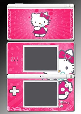Hello Kitty Cute Pink Princess game Vinyl Decal Cover Skin Protector #6 for Nintendo DS Lite