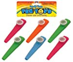 Bag Of 6 Kazoos 11cm (Assorted Colours)