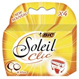 BiC Soleil CliC Lady Triple Blade Refill Cartridges (Pack of 4) For use with BiC Soleil CliC Lady Triple Blade Shaver System