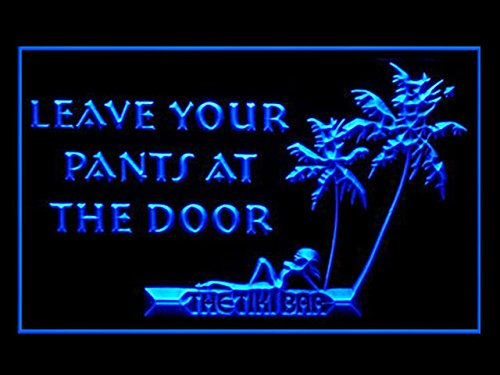 C B Signs Leave Your Pants At The Door Tiki Bar Led Sign Neon Light Sign Display
