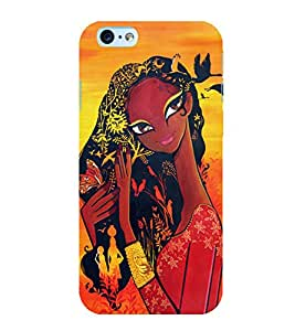 Village Girl 3D Hard Polycarbonate Designer Back Case Cover for Apple iPhone 6 Plus :: Apple iPhone 6+