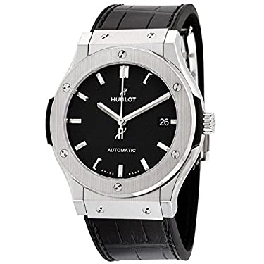 Hublot Classic Fusion Black Dial Black Leather Watch 511NX1171LR