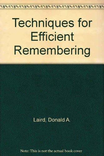 Techniques for Efficient Remembering PDF