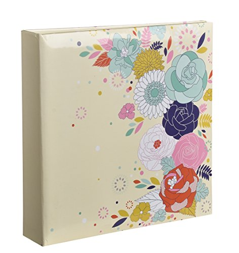 Arpan 10 x 15 cm Large Slip In Memo Photo Album For 200 Holds 4 x 6''- Wild Rose by ARPAN