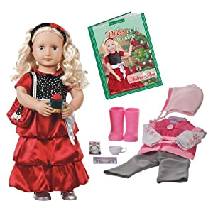Our Generation Deluxe Christmas Doll with Book: Audrey-Ann