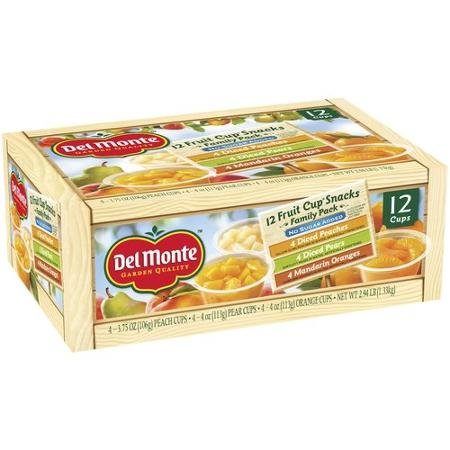 Del Monte No Sugar Added Assorted Flavors Fruit Cup Snacks 2.94 lb, 12 Count (Del Monte Fruit Naturals compare prices)