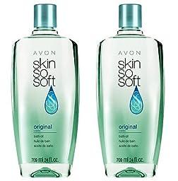 Lot of 2 AVON Skin So Soft SSS Original Bath Oil 24 oz each - Sealed! by Avon [Beauty]