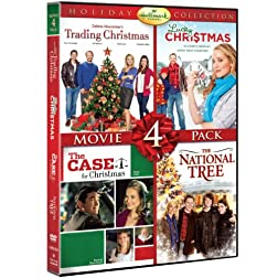 Hallmark Holiday Collection Movie 4 Pack (Trading Christmas, Lucky Christmas, Case For Christmas, National Tree)
