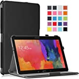 Moko Samsung Galaxy Tab PRO 10.1 Case - Slim-Fit Multi-angle Folio Cover Case for Galaxy TabPRO 10.1 Android Tablet, BLACK (With Smart Cover Auto Wake / Sleep. WILL NOT Fit Samsung Galaxy Tab 4 10.1)