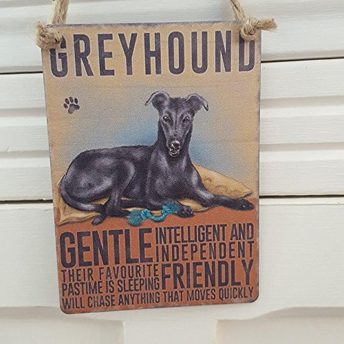 black-greyhound-dog-small-metal-hanging-sign-plaque-gentle-intelligent-and-independent