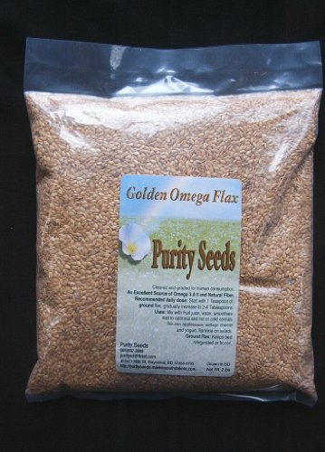 Purity Seeds 2 Lb Golden Flax Seed