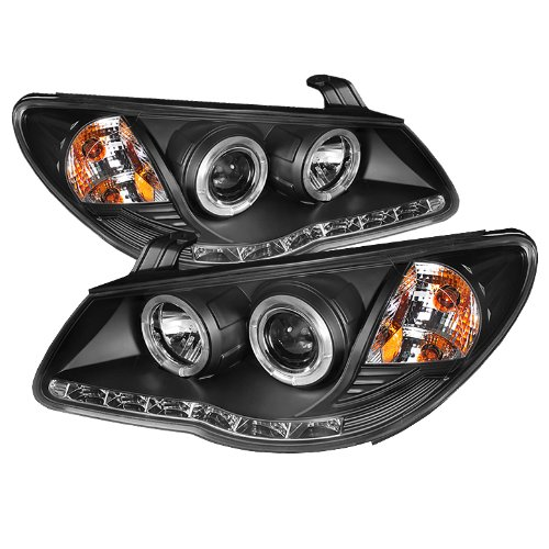 Spyder Auto (Pro-Yd-Hyelan07-Drl-Bk) Hyundai Elantra Black Halo Projector Headlight With Led Daytime Running Light