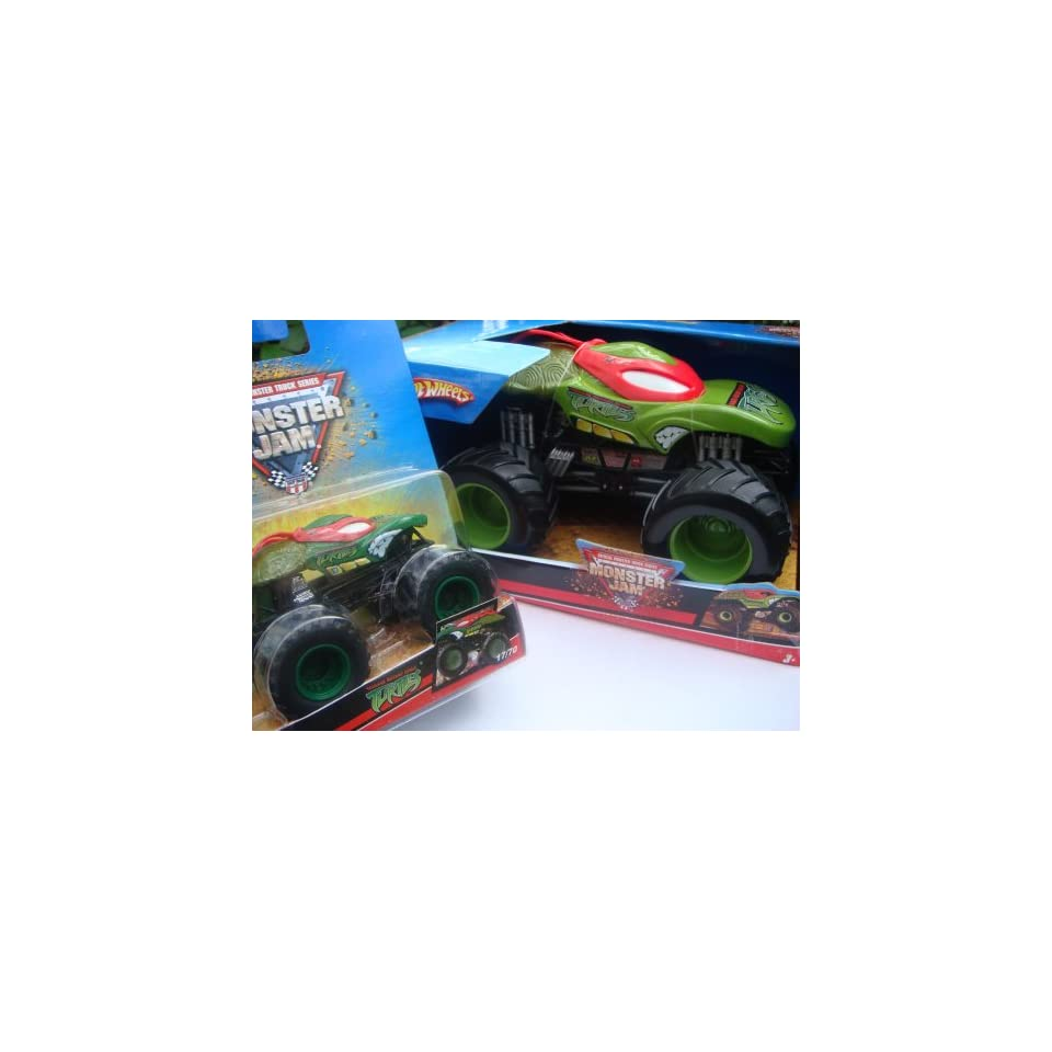 Hot Wheels Monster Jam Trucks   2 Ninja Turtles Scale 1/24 & Also The Ninja Turtles 1/64