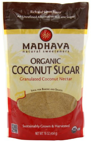 Madhava Organic Coconut Sugar, 16-Ounce (Pack Of 6)