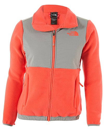 The North Face Denali Girls Jacket In Rocket Red Sz:L front-670799