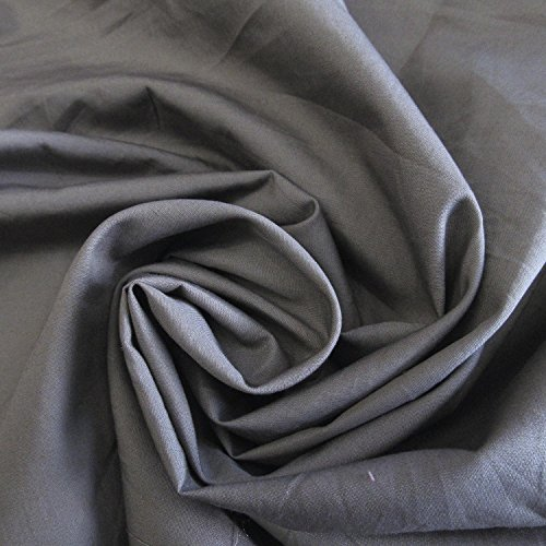 58-wide-solid-grey-cotton-polyester-poplin-fabric-soft-lightweight-sold-by-the-yard