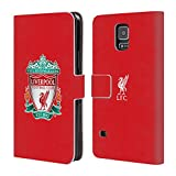 Official Liverpool FC LFC Red 1 LFC Crest 1 Leather Book Wallet Case Cover for Samsung Galaxy S5