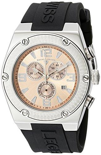 Swiss Legend Men's 30025-09 Throttle Chronograph Rose Dial Watch