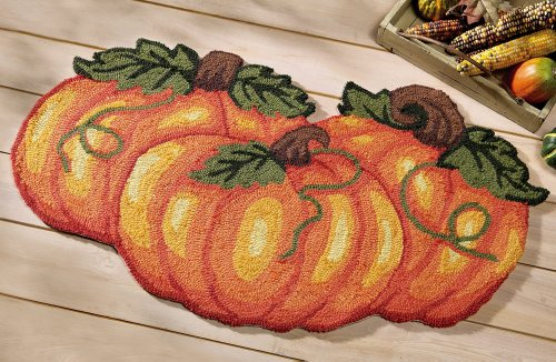 Pumpkin Small Area Rug by Collections Etc