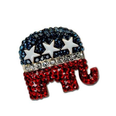Crystal Republican Logo Pin/Brooch