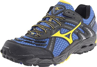Mizuno Men's Wave Cabrakan 3 Running Shoe,Turkish Sea/Cyber Yellow-Anthracite,14 M US