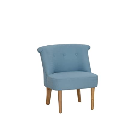 Sessel Webstoff blau Lehne kapitoniert 67x72x66cm, SH 42cm - Modell Corleoni