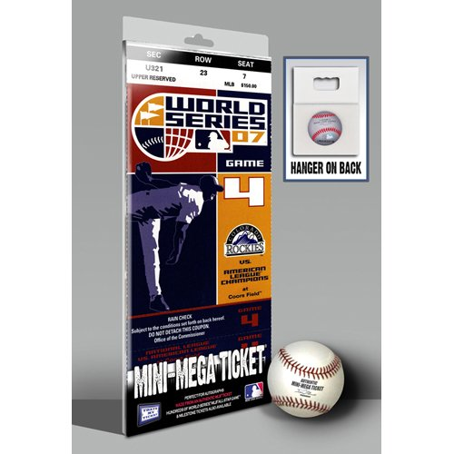IFS - 2007 World Series Mini-Mega Ticket - Colorado Rockies at Amazon.com
