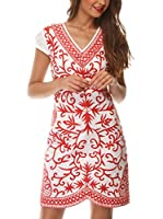 ALMATRICHI Vestido (Blanco / Coral)